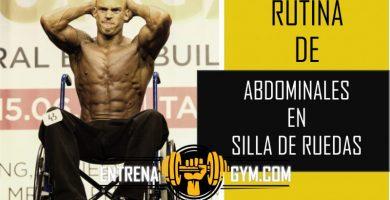 rutina de abdominales en silla de ruedas
