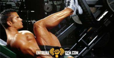 rutina de pierna en gimnasio