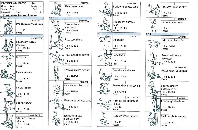 Rutina de entrenamiento en gimnasio | ENTRENA GYM