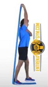 curl triceps con bandas elasticas