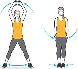 jumping jacks ejercicio